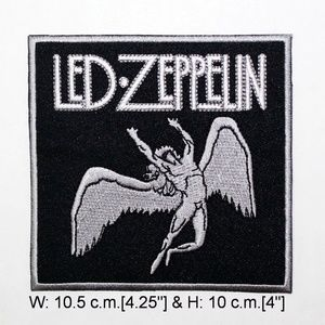 Led Zeppelin patch iron on band 70s rock hippie